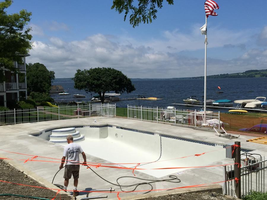 Commercial Inground Pool Remodel: Pool Replaster