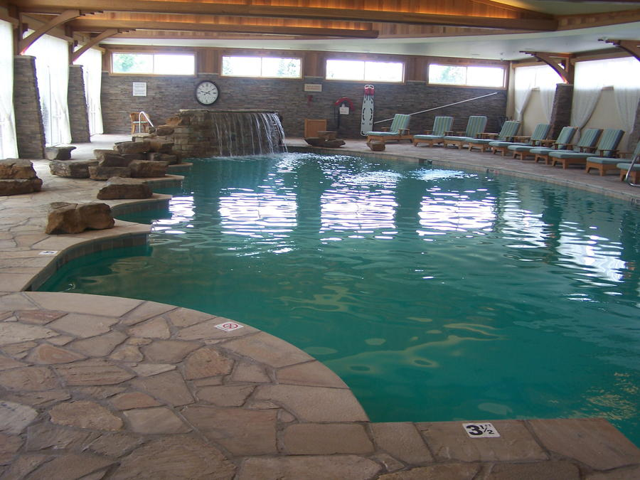 Commercial: Hotel Pool Remodel, Replaster Irish Cream Pebble Finish