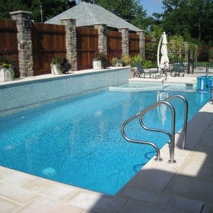 Luna Blue Quartz Inground Pool Finish