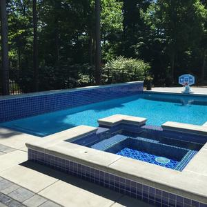 Luna Quartz Pacific Blue New Pool Installation