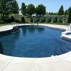 Satin Matrix  Black Inground Pool