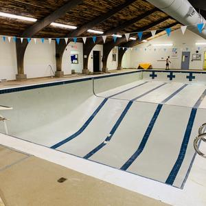 YMCA pool new plaster