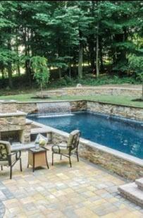 New Tile Pebble Pool Finish